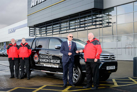 Trossachs SAR collect a new Toyota Hilux from Arnold Clark!