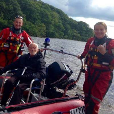Bill spent a day on our RIB on Loch Lomond and visited Inchcailloch beach where he took in the sun whilst we undertook water rescue training.